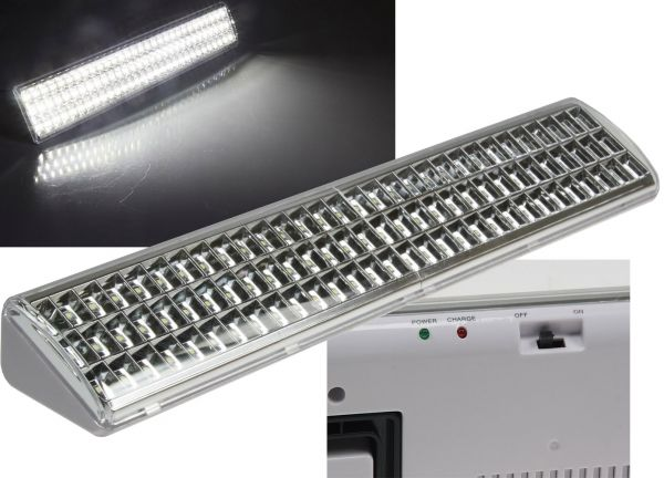 "LED Notleuchte ""CTNL-90 SMD"" 500x95x60mm Lithium Akku 2x 3,7V/2200mAh, nur 9W"