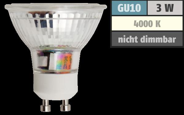 LED-Strahler McShine ET32 GU10, 3W COB, 240lm, neutralweiß