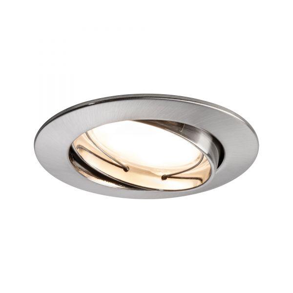 Paulmann Einbauleuchten 3er-Set LED Coin satiniert rund 3x6,8W Eisen schwenkbar