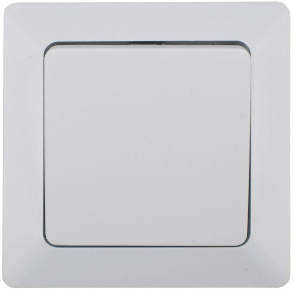 MILOS Taster, weiß matt 0-250V~/ 10A, inkl. Rahmen, UP
