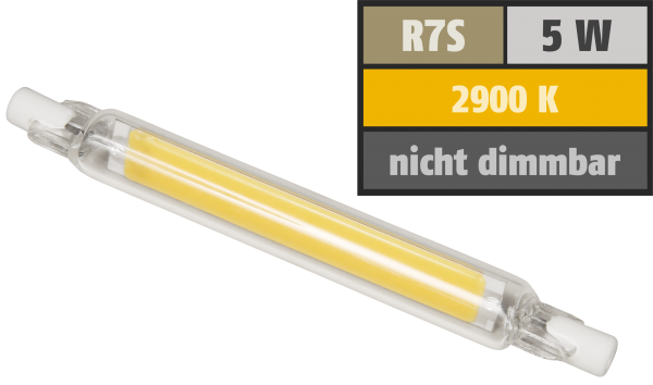 LED-Strahler McShine LS-718 R7s, 4W, 400lm, 78mm, 360°, warmweiß