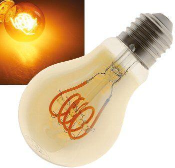 """LED Glühlampe E27 """"Vintage G70"""" 2000k, 280lm, 230V/4W, warmweiß/amber"""
