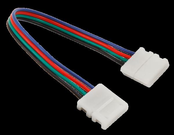 Verbinder für LED-Stripe, flexibel, 4Pin auf 4Pin, RGB, 10mm