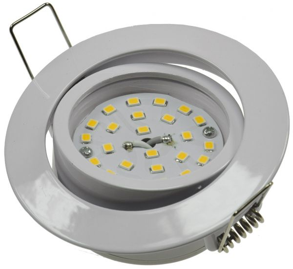 """LED-Einbauleuchte """"Flat-32dim"""" warmweiß 80x32mm, 5W, 420lm, weißes Gehäuse"""