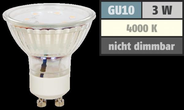 LED-Strahler McShine ET10, GU10, 3W, 250 lm, neutralweiß