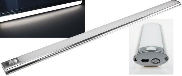 """LED Akku-Leuchte PIR Sensor """"MAL-60 nw"""" 60x4x2cm, 5W, 200lm, Alu, neutralweiß"""