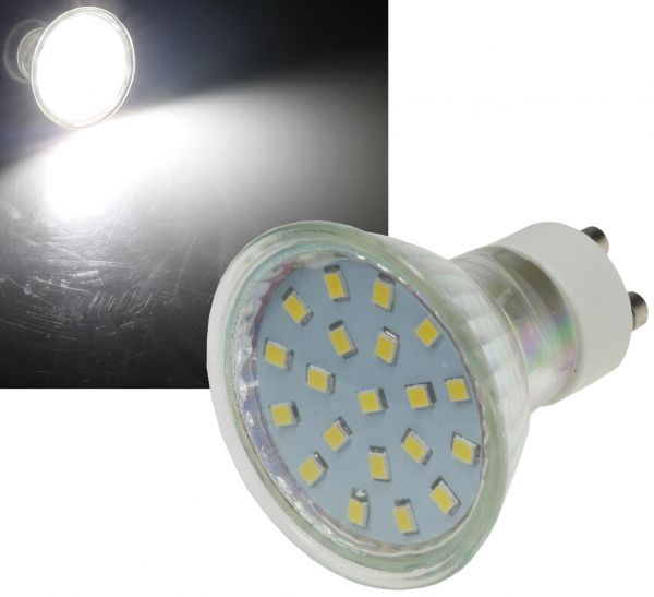 "LED Strahler GU10 ""H40 SMD"" 120°, 4000k, 300lm, 230V/3W, neutralweiß"