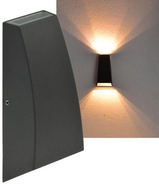 """LED Wandleuchte """"Hilera 6"""" IP44, 2x3W, 2900K, warmweiß"""