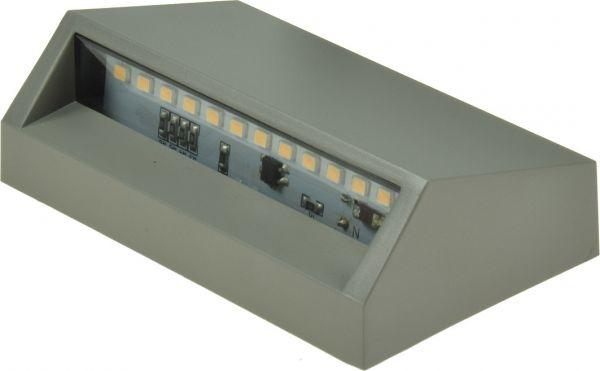 "LED Wandleuchte ""KWL-98"", eckig IP65, 1,5W, 100Lm, Kunststoff, warmweiß"