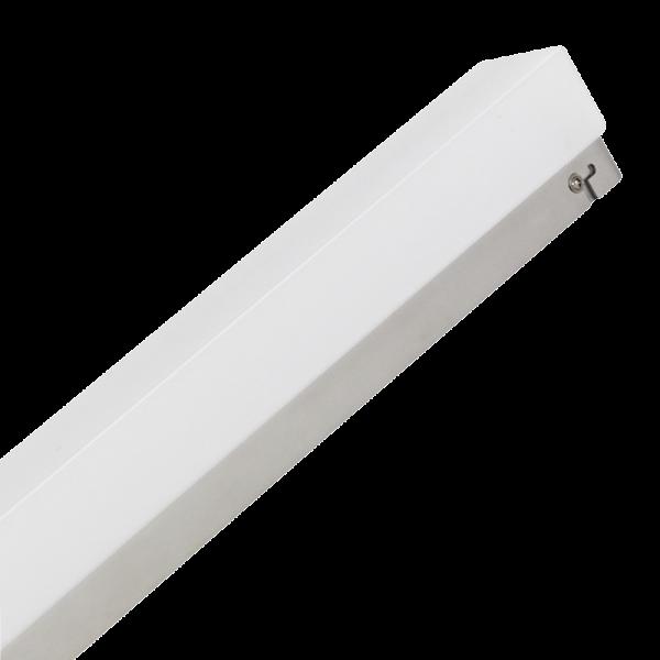 LED Wandleuchte, 10W, 750lm, 3000K, 60cm, warmweiß, silber