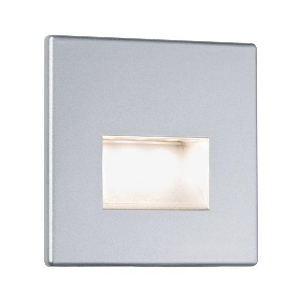 Paulmann Wand-Einbauleuchte Edge eckig LED 1x1,1W 230V Chrom matt