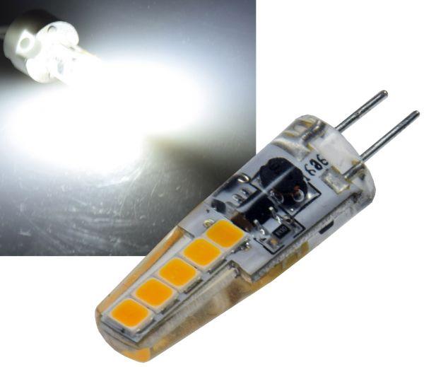 "LED Stiftsockellampe G4 ""Silikon W2"" 4000k, 200lm, 300°, 12V/2W, neutralweiß"