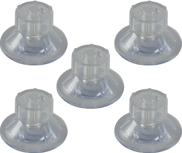 """Saugnapf """"Fix 47"""" mit Schraube, rostfrei 5er Pack, Kunststoff,transparent, Ø47mm"""