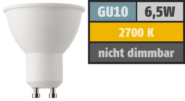 LED-Strahler HD95 GU10, 6,5W, 380lm, 2700K, warmweiß, Ra>95