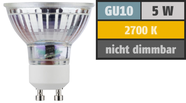 LED-Strahler, GU10, 5W, 350lm, 2700K, warmweiß, 2er Set
