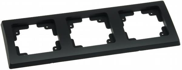 DELPHI 3-fach Rahmen in Schwarz