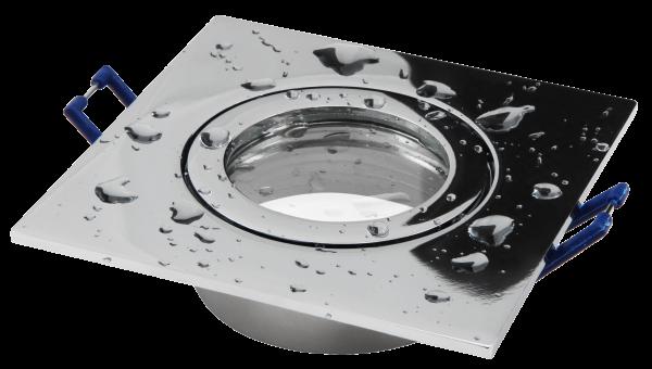 Einbaurahmen McShine DL-54 eckig Clip-Verschluss, IP44, Chrom