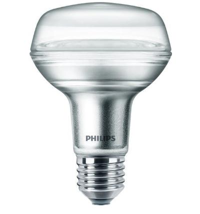 Philips LED-Lampe CorePro R80 4W E27 warmweiß