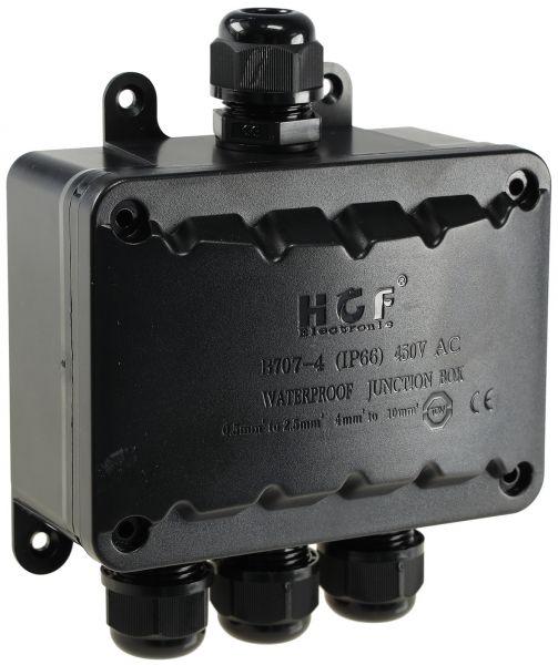 Kabelverbinderbox, 4 Anschlüsse, IP66 230V, IP66, 1x Eingang, 3x Ausgang