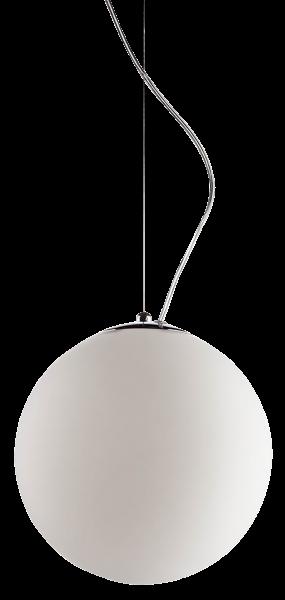 Hängeleuchte mit Kugel, Acryl Glas, E27, Ø 250mm, matt, chrom