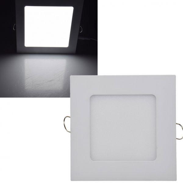"LED Licht-Panel ""QCP-12Q"", 12x12cm 230V, 6W, 440 Lumen, 4200K / neutralweiß"