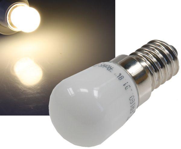 LED Lampe E14, 1 SMD LED 23x51mm klein 3000k, 140lm, 120°, 230V/2W, warmweiß