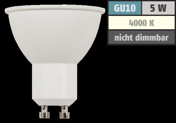 LED-Strahler McShine COB GU10, 5W, 350lm, neutralweiß, 10° Spot