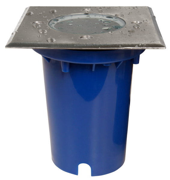 Bodeneinbauleuchte McShine BL-12Q, GU10-Fassung, 120x120x125mm, mit 2 Eingängen