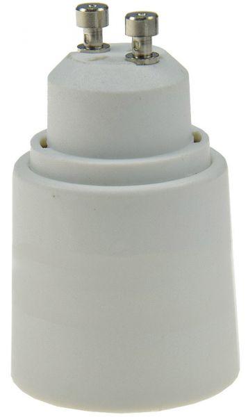Lampensockel-Adapter, Kunststoff GU10 auf E27