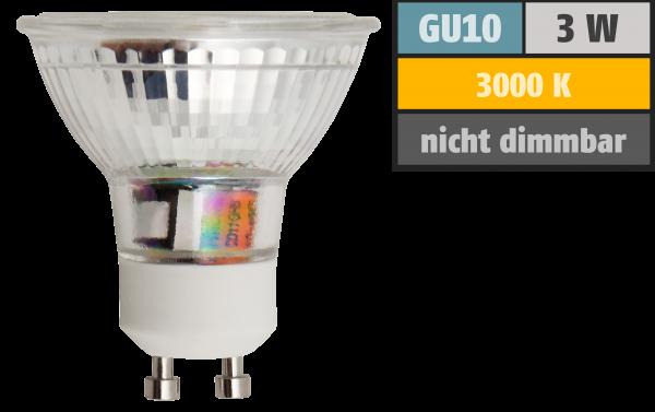LED-Strahler McShine ET32 GU10, 3W COB, 240lm, warmweiß
