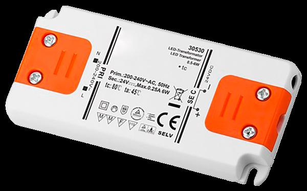 LED-Trafo 6W, elektronisch, 24V DC, slim