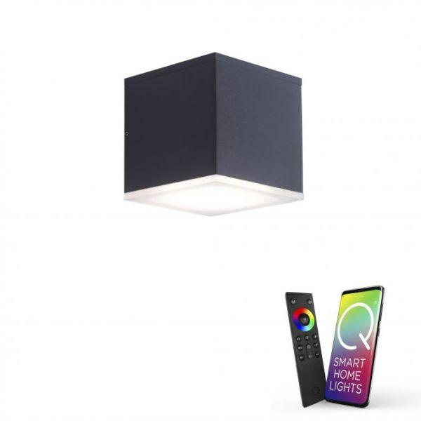 Paul Neuhaus LED-Wandleuchte LB20 anthrazit RGBW 10,8W 1080lm 3000K