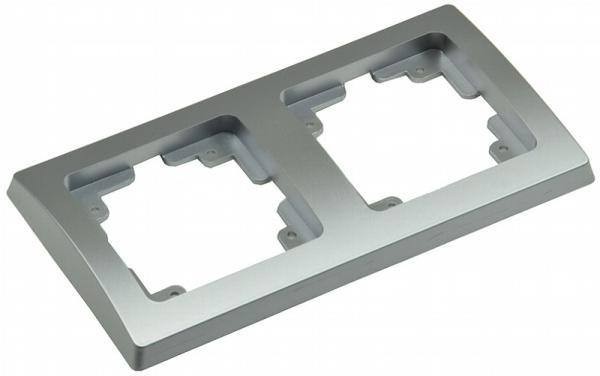 DELPHI 2-fach Rahmen in Silber