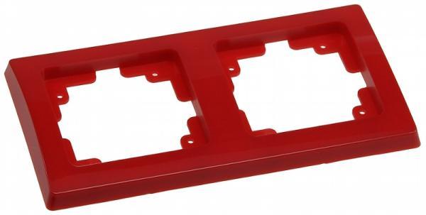 DELPHI 2-fach Rahmen in Rot