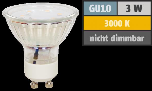 LED-Strahler McShine ET10, GU10, 3W, 250 lm, warmweiß