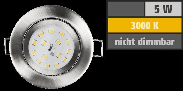 LED Einbauleuchte McShine Slim 82x27mm, 5W, 400lm, 3000K, Edelstahl gebürstet