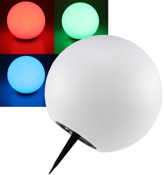 "LED Solar Kugelleuchte 25cm Ø ""SK25 RGB"" IP44, Farbwechsel"
