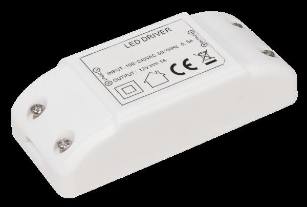 LED-Trafo McShine, elektronisch, 0,5-12W, 230V auf 12V, 95x45x27mm