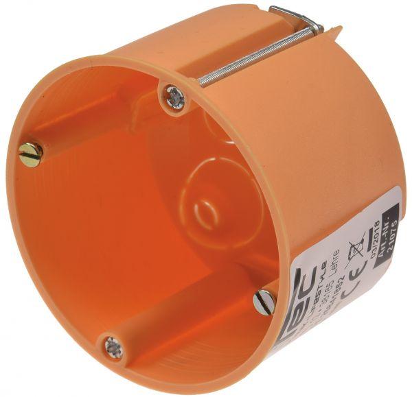 Hohlwanddose Ø 68 x 47mm inkl. Geräteschrauben, orange
