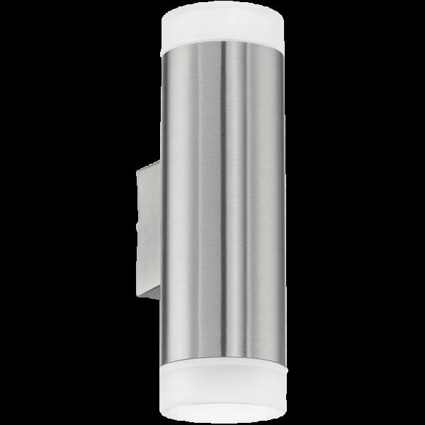 EGLO LED Wandleuchte RIGA-LED Edelstahl