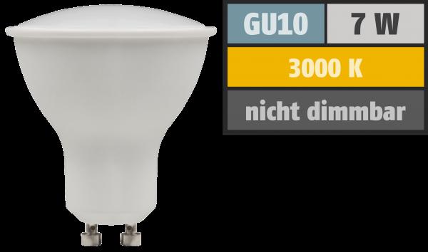 LED-Strahler McShine PV-70 GU10, 7W, 540lm, 110°, 3000K, warmweiß