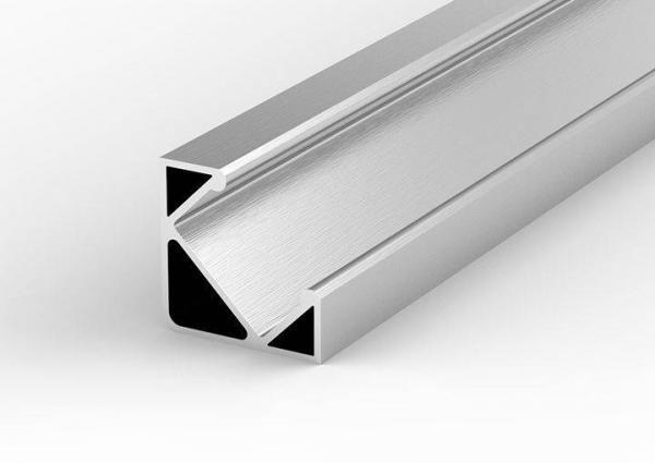 LED Aufbauprofil 90° Ecken für LED Streifen Silber eloxiert verschiedene Längen