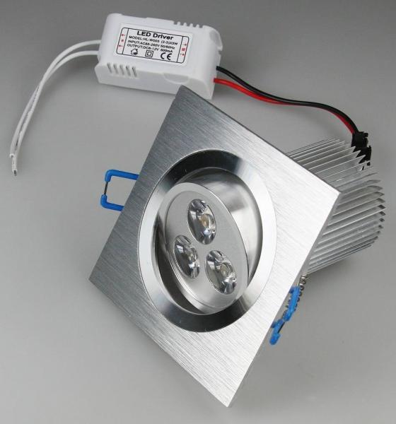 LED-Einbauleuchte QD-9 9W 400lm