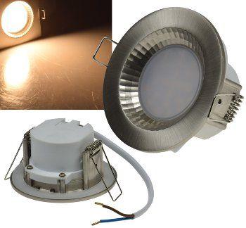 "LED-Einbauleuchte ""Flat-40 FR"" 2900K 85x40mm, 5W, 430lm, Edelstahl gebürstet"