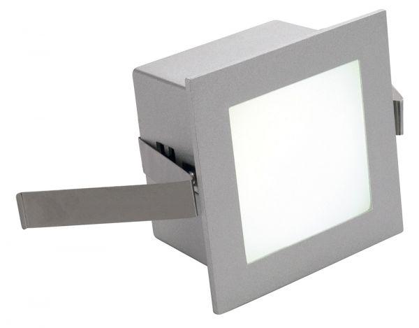 SLV FRAME BASIC LED Einbau-leuchte eckig silbergrau 4000K