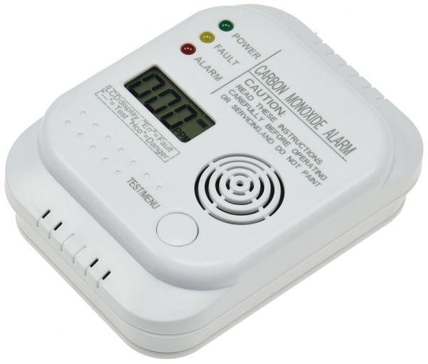 """Kohlenmonoxid Melder """"CT-KM 107"""" mit Thermometer, EN 50291 zertifiziert"""