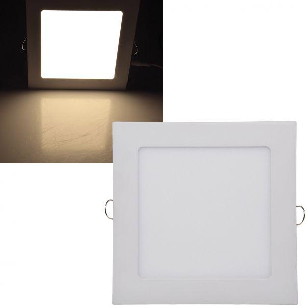 "LED Licht-Panel ""QCP-17Q"", 17x17cm 230V, 12W, 850 Lumen, 2900K / warmweiß"