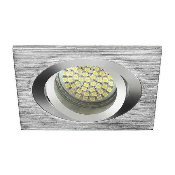 Deckeneinbaurahmen gebürstetes Aluminium Silber GU5.3