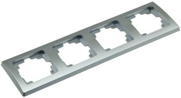 DELPHI 4-fach Rahmen silber