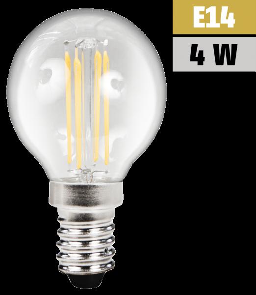LED Filament Tropfenlampe McShine Filed, E14, 4W, 470lm, warmweiß